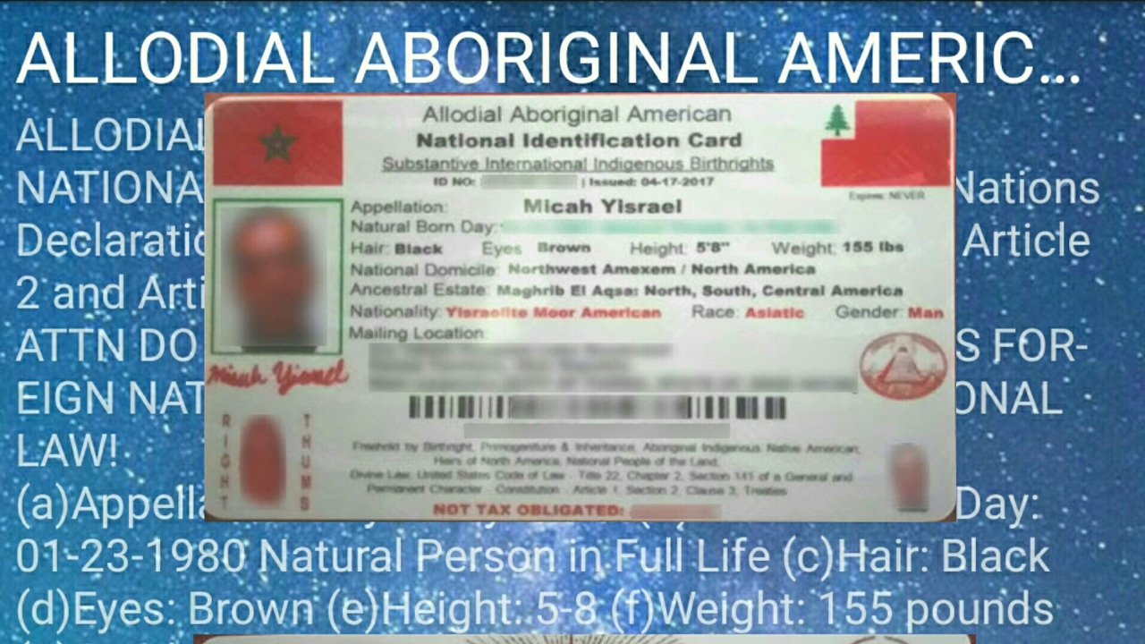 Get Your Enhanced Moorish National Identification Card Here
